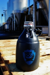 """The BrewDog ceramic growler, """"built for battle"""" to quote Chris Hall."""